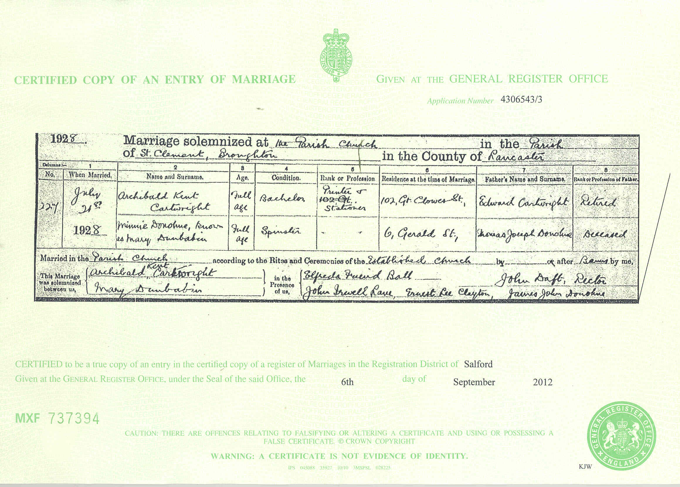Donbavand certificates cartwright archibald k dunbabin mary marriage 1928g aiddatafo Choice Image